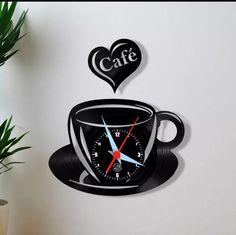 Large Wood Clock, Wood Clocks, Brown Clocks, Oversized Clocks, Vinyl Record Art, Coffee Table Furniture, Laser Cutter Projects, Kitchen Wall Clocks, Geometric Drawing