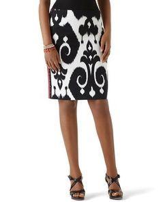 Nice Nwt White House Black Market 2 Asymmetric Slit Stripe Pencil Skirt $88 Women's Clothing