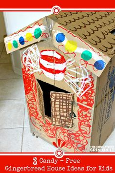 3 Candy-Free Gingerbread Houses that encourage kids to think, create, and build!