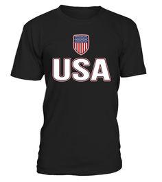 54276b27356 USA Red White Blue T-shirt American Flag U.S.A Stars Stripes