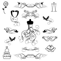 Wedding Silhouettes Clipart and Vectors