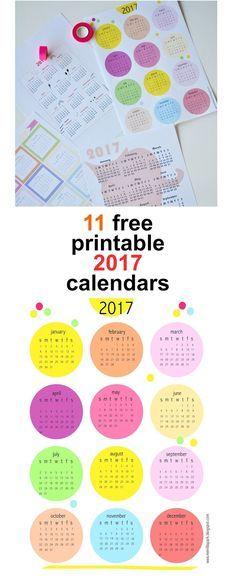 FREE printable 2017 calendar - round-up!