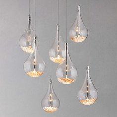 BuyJohn Lewis Sebastian 7 Light Drop Ceiling Light, Crystal Online at johnlewis.com