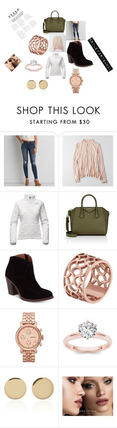 """Rich!!🤑🤑"" by bkw34678 on Polyvore featuring American Eagle Outfitters, The North Face, Givenchy, Lucky Brand, Tartesia, FOSSIL, Magdalena Frackowiak and Anastasia Beverly Hills"