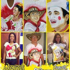 Motivos Exclusivos con RETRATOS Pinta Carnavalera.  #Carnavart #Barranquilla #BarranquillaLovers #Curramba #Quilla #LaArenosa #ArteColombiano #Colombia #Colombian #Colombiarte #Artes #Arte #HechoAMano #HechoEnColombia #PintadoAMano #CamisasDeCarnaval #PintaCarnavalera #CamisasPersonalizadas #CarnavalDeBarranquilla #MadeInColombia #Marimonda #Marimondas #BarranquillaColombia #SomosCarnaval #quienloviveesquienlogoza