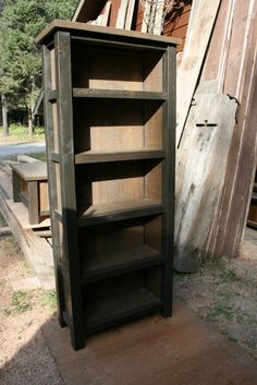 Reclaimed Rustic Bookcase by EchoPeakDesign on Etsy, $420.00