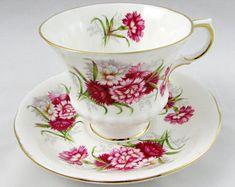 Paragon Flower Festival K Tea Cup and Saucer, Vintage Bone China, Teacup and Saucer