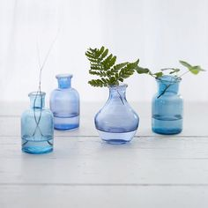 Our kind of winter blues. Link in profile to shop the Inkwell Bottle Bud Vase. | Terrain