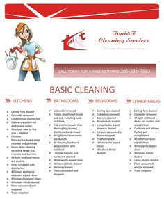 Flyer for a cleaning services company by mariya krusheva, via Behance