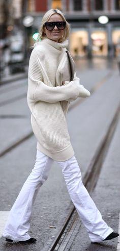 Cream Street Chic Xxl Turtleneck