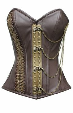 A Touch of Chocolate in Leather Overbust Corset