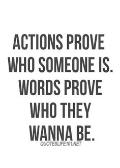 quotes about actions over words - Google Search