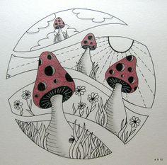 zentangle mushrooms | mushrooms | Zentangle Mushrooms