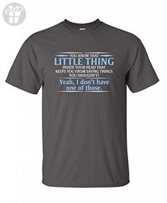 You know the little thing inside your head Guys Gift Funny T Shirt XL Charcoal - Birthday shirts (*Amazon Partner-Link)