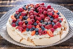 ... Pavlova, 20 Min, Meringue, Caramel Blond, Cheesecake, Desserts, Food, Animales, Raspberry