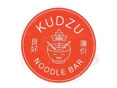 Kudzu Noodle Bar designed by Jay Wilkins. Fashion Typography, Typography Logo, Logo Branding, Branding Design, Corporate Branding, Brand Identity, Ramen Restaurant, Restaurant Branding, Chinese Restaurant