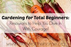 Gardening Tips for Beginners: Resources to Help You Dive Into Gardening With Courage! - Keeper of the Home