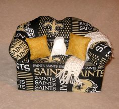 FREE SHIPPING-New Orleans Saints Sofa Tissue Box Cover by DBAYOU18