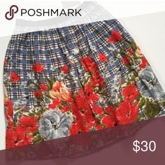 "Odille Anthropologie Floral Skirt size 8 Anthro skirt, runs small!! Size 8, fits like a 6, waist is 15"" Anthropologie Skirts"