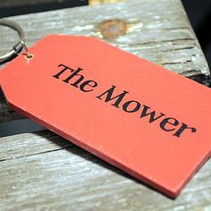 'The Mower' Key Ring