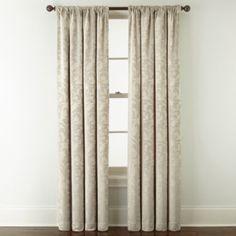 jcp | Royal Velvet® Chenille Scroll Rod-Pocket/Back-Tab Curtain Panel