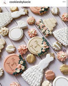 Fancy Cookies, Sugar Cookies, Engagement Cookies, Cupcake Cakes, Cupcakes, Wedding Sweets, Birthday Cookies, Cookie Designs, Cookie Decorating