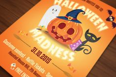 Halloween Flyer Cards Illustrations by UXburn on Creative Market