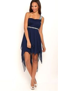 Homecomming? Deb Shops One Shoulder High Low #Homecoming Dress with Stone Trim $75.00