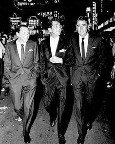 Rat Pack Frank Sinatra Dean Martin Sammy Davis RARE Poster Print Glossy Photo