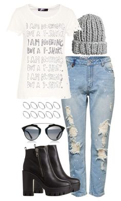 """""""Untitled #327"""" by ohlizzy ❤ liked on Polyvore featuring Lipsy, H&M, ASOS, Hallhuber and Charlotte Russe"""