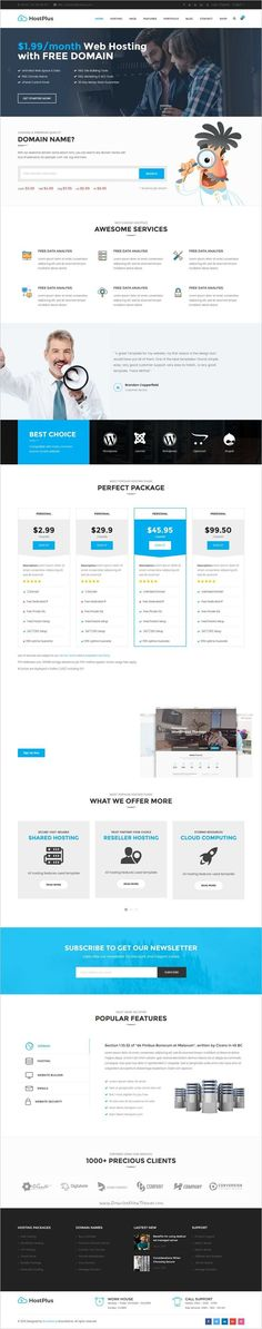 HostPlus is a modern responsive #HTML5 #CSS3 #Bootstrap template for web #hosting company websites download now➩ https://themeforest.net/item/hostplus-responsive-host-html5-template/19238456?ref=Datasata