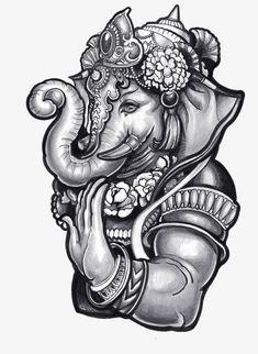 A decorative totem; the image of a deity, Decorative Totem, Elephant Head PNG Image and Clipart Ganesha Tattoo Lotus, Shiva Tattoo, Lotus Tattoo, Tattoo Ink, Hindu Tattoos, Buddha Tattoos, Arm Tattoos, Sleeve Tattoos, Lord Shiva Painting