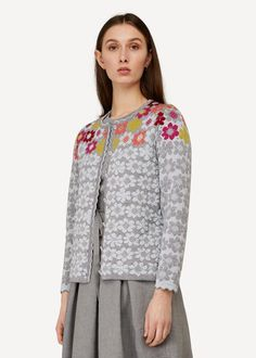 Oleana is an award winning fashion brand from Norway. We produce knitted garments, at our own factory in Ytre Arna, Norway. Fair made textiles. Textile Design, Floral Design, Norway Design, Fair Isle Knitting, Fashion Brand, Fashion Design, Classic Collection, Pullover Sweaters, Cardigans