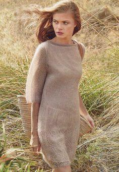 Вязание крючком и спицами - Платье с ажурной каймой