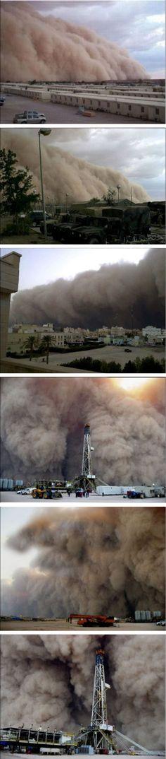 Giant dust storm in Kuwait