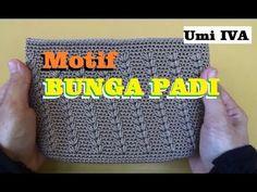 Tutorial Merajut Motif Bunga Padi  Crochet - YouTube