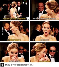 Jennifer Lawrence and Jack Nicholson being awesome
