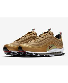 buy popular d1e56 4c646 Nike Air Max 97 New Metallic Gold Italy Flag Color Trainer Sale