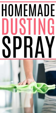 Need an easy DIY dusting spray? Check out how to use essential oils and olive oil to make a homemade dusting spray that works great! Cleaning Recipes, House Cleaning Tips, Cleaning Hacks, All Natural Cleaning Products, Diy Cleaning Products, Organization Hacks, Organizing, Dusting Tips, Laundry Solutions