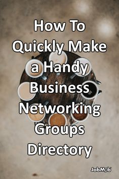 📇 How To Quickly Make a Handy Business Networking Groups Directory Career Success, Career Coach, Career Consultant, Own Your Own Business, Job Search Tips, Current Job, Good Excuses, Business Networking, Leadership Development