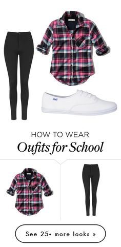 """""""school"""" by prattmae on Polyvore featuring Abercrombie & Fitch and Topshop"""