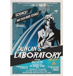 Yogscast (Duncan's Lab 1950's B Movie) Poster at the official Yogscast online shop
