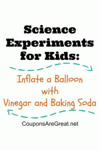 inflate a balloon science experiments for kids