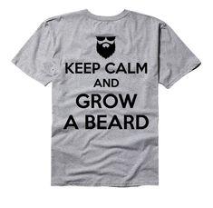 Keep calm and grow a beard beard tee shirt by GramsTelegrams Beard Growth Stages, Beard Growth Tips, Patchy Beard, Black Men Beards, Tee Shirts, Tees, Face Hair, Keep Calm, Sideburns