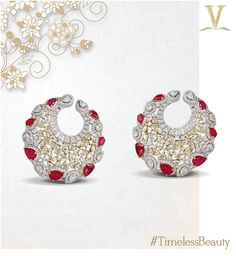 Created with passion, these ruby and diamond earrings are the epitome of beauty.
