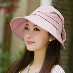 UV bucket hat with bow package elegance ladies sun hats