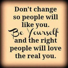 Defeat peer pressure. From pinterest. This is quote that could be used at the end of my problem/policy speech. It is a motivational quote that helps the audience see that you do not need to change in order to fit in with your peers. Just be yourself and you will find the right friends for you.