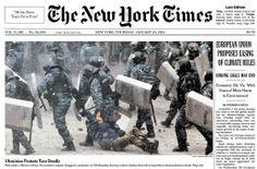 Ukrainiana Protests Turn Deadly, The New York Times #євромайдан #евромайдан #euromaidan #euromaydan #ukraine #україна #украина #kiev #київ #беркут