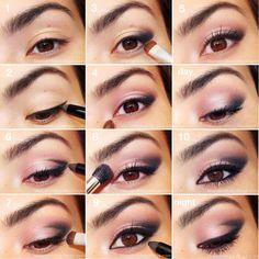 Pink Smokey Eye Tutorial - #eyemakeup #pinkshadow #eyeshadow #eyes #makeup - bellashoot.com