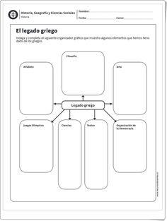 """""""El legado griego"""" (Ficha de Historia de Primaria)"""